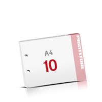 2-fach Bohrung Notizblöcke mit  10 Blatt Notizblöcke einseitig drucken