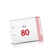 2-fach Bohrung Notizblöcke mit  80 Blatt Notizblöcke einseitig drucken