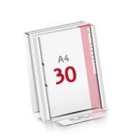2-fach Bohrung Flachverpackung Notizblöcke mit  30 Blatt Notizblöcke einseitig drucken