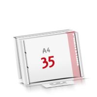 2-fach Bohrung Flachverpackung Notizblöcke mit  35 Blatt Notizblöcke einseitig drucken