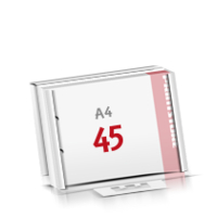 2-fach Bohrung Flachverpackung Notizblöcke mit  45 Blatt Notizblöcke einseitig drucken