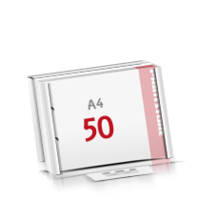 2-fach Bohrung Flachverpackung Notizblöcke mit  50 Blatt Notizblöcke einseitig drucken