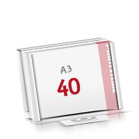 Flachverpackung Notizblöcke mit  40 Blatt Notizblöcke einseitig drucken