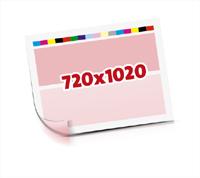 Sammel-Formen drucken   1-6 färbige Selbstumstülper nutzenmontierter Standbogen Bogenformat 720x1020mm beidseitig bedruckte Planobogen 1 Garnitur Druckplatten - Papier vertikal bzw. zur Vordermarke wenden