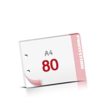 2-fach Bohrung Notizblöcke mit  80 Blatt Notizblöcke beidseitig drucken