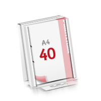 2-fach Bohrung Flachverpackung Notizblöcke mit  40 Blatt Notizblöcke beidseitig drucken