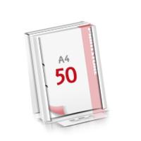 2-fach Bohrung Flachverpackung Notizblöcke mit  50 Blatt Notizblöcke beidseitig drucken