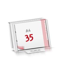 2-fach Bohrung Flachverpackung Notizblöcke mit  35 Blatt Notizblöcke beidseitig drucken