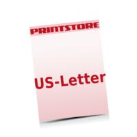 US-Letter (216x279mm) Briefpapiere mit bis zu  6 Druckfarben drucken einseitiger Druck