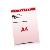 A4 (210x297mm) Personalisierung, Schwarz der Euroskala Briefpapiere mit bis zu  6 Druckfarben drucken einseitiger Druck einseitige Personalisierung