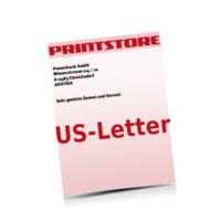 US-Letter (216x279mm) Personalisierung, CMYK der Euroskala Briefpapiere mit bis zu  6 Druckfarben drucken einseitiger Druck einseitige Personalisierung
