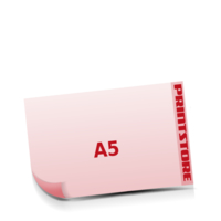 A5  quer (210x148mm) Stanzwerkzeug Apfel Gestanzte Flugblätter mit bis zu  6 Druckfarben drucken