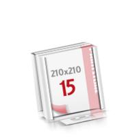 Flachverpackung Digitaldruck Notizblöcke mit  15 Blatt Digitaldruck Notizblöcke beidseitig drucken