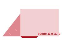 eingeklebte Dreiecks Tasche Stanzwerkzeug 36080-A-(0)-47.0 Mappen-Füllhöhe: 0mm Präsentationsmappen einseitig drucken stanzen, kleben & falten