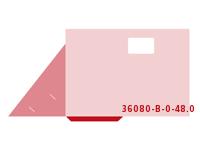 eingeklebte Dreiecks Tasche Stanzwerkzeug 36080-B-(0)-48.0 Mappen-Füllhöhe: 0mm Präsentationsmappen einseitig drucken stanzen, kleben & falten