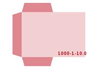 eingeklebte Visitenkarten Tasche Stanzwerkzeug 1000-(1)-10.0 Mappen-Füllhöhe: 0mm Mappen einseitig drucken stanzen & falten