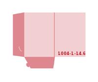 eingeklebte Visitenkarten Tasche Stanzwerkzeug 1004-(1)-14.6 Mappen-Füllhöhe: 6mm Mappen einseitig drucken stanzen & falten