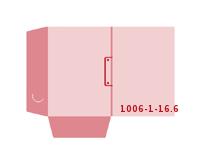 eingeklebte Visitenkarten Tasche Stanzwerkzeug 1006-(1)-16.6 Mappen-Füllhöhe: 6mm Mappen einseitig drucken stanzen & falten
