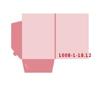 eingeklebte Visitenkarten Tasche Stanzwerkzeug 1008-(1)-18.12 Mappen-Füllhöhe: 12mm Mappen einseitig drucken stanzen & falten