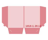 eingeklebte Visitenkarten Tasche Stanzwerkzeug 1010-(1)-20.12 Mappen-Füllhöhe: 12mm Mappen einseitig drucken stanzen & falten