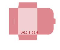 eingeklebte Visitenkarten Tasche Stanzwerkzeug 1012-(1)-22.6 Mappen-Füllhöhe: 6mm Mappen einseitig drucken stanzen & falten