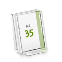 2-fach Bohrung Microwellkarton Seminarblöcke mit  35 Blättern Seminarblöcke einseitig bedrucken