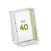2-fach Bohrung Microwellkarton Seminarblöcke mit  40 Blättern Seminarblöcke einseitig bedrucken