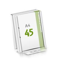2-fach Bohrung Microwellkarton Seminarblöcke mit  45 Blättern Seminarblöcke einseitig bedrucken