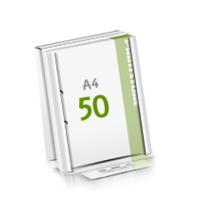 2-fach Bohrung Microwellkarton Seminarblöcke mit  50 Blättern Seminarblöcke einseitig bedrucken