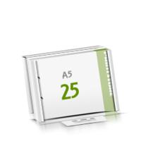 2-fach Bohrung Microwellkarton Seminarblöcke mit  25 Blättern Seminarblöcke einseitig bedrucken