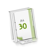2-fach Bohrung Microwellkarton Seminarblöcke mit  30 Blättern