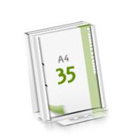 2-fach Bohrung Microwellkarton Seminarblöcke mit  35 Blättern
