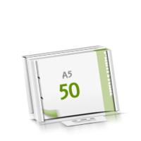 2-fach Bohrung Microwellkarton Seminarblöcke mit  50 Blättern