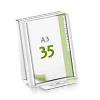 Microwellkarton Seminarblöcke mit  35 Blättern