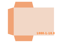 eingeklebte Dreiecks Tasche Stanzform 1000-(1)-10.0 Mappen-Füllhöhe: 0mm Angebotsmappen beidseitig drucken stanzen & falten