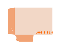 eingeklebte Dreiecks Tasche Stanzform 1001-(1)-11.0 Mappen-Füllhöhe: 0mm Angebotsmappen beidseitig drucken stanzen & falten