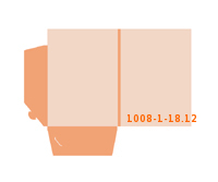 eingeklebte Visitenkarten Tasche Stanzform 1008-(1)-18.12 Mappen-Füllhöhe: 12mm Angebotsmappen beidseitig drucken stanzen & falten