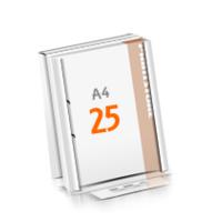 2-fach Bohrung Versandverpackung Blöcke mit  25 Blatt Blöcke einseitig drucken