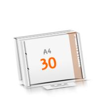 2-fach Bohrung Versandverpackung Blöcke mit  30 Blatt Blöcke einseitig drucken