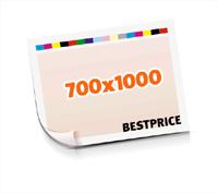 Druckformen drucken  1-6 färbige Schöndrucke nutzenmontierter Standbogen Bogenformat 700x1000mm einseitig bedruckte Plano-Druckbogen