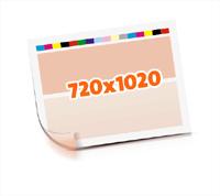 Druckformen drucken   1-6 färbige Selbstumstülper nutzenmontierter Standbogen Bogenformat 720x1020mm beidseitig bedruckte Plano-Druckbogen 1 Garnitur Druckplatten - Papier vertikal bzw. zur Vordermarke wenden