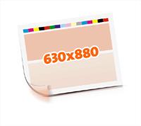 Druckformen drucken   1-6 färbige Selbstumstülper nutzenmontierter Standbogen Bogenformat 630x880mm beidseitig bedruckte Plano-Druckbogen 1 Garnitur Druckplatten - Papier vertikal bzw. zur Vordermarke wenden
