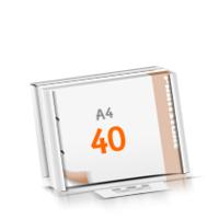 2-fach Bohrung Versandverpackung Blöcke mit  40 Blatt Blöcke beidseitig drucken