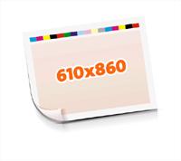 Druckformen drucken  1-6 färbige Schöndrucke nutzenmontierter Standbogen Bogenformat 610x860mm einseitig bedruckte Plano-Druckbogen