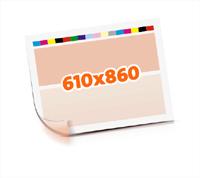 Druckformen drucken   1-6 färbige Selbstumstülper nutzenmontierter Standbogen Bogenformat 610x860mm beidseitig bedruckte Plano-Druckbogen 1 Garnitur Druckplatten - Papier vertikal bzw. zur Vordermarke wenden