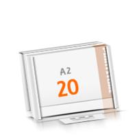 Kalenderleisten in Versandverpackung Schreibunterlagen mit  20 Blatt