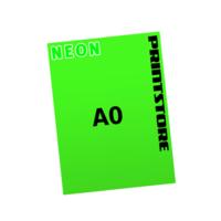 1 färbige Neonplakate  A0 (840x1188mm) einseitige Neonplakate