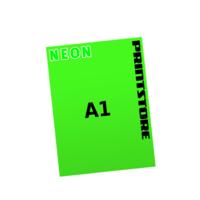 1 färbige Neonplakate  A1 (594x840mm) einseitige Neonplakate