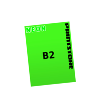 1 färbige Neonplakate  B2 (500x700mm) einseitige Neonplakate