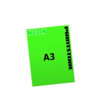 1 färbige Neonplakate  A3 (297x420mm) einseitige Neonplakate